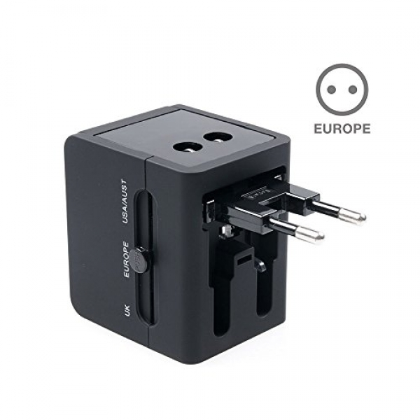 adaptateur chargeur universel de voyage avec double usb. Black Bedroom Furniture Sets. Home Design Ideas
