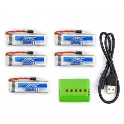 5 Batteries With Multiple Battery Charger