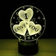 Lamp LED Neon love I you like 7 colors