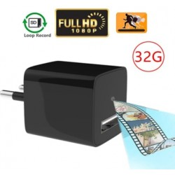 USB Charger WiFi Hidden Spy Camera 1080P