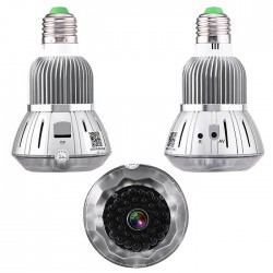 Hidden WiFi Spy Camera In Led Light Bulb E27