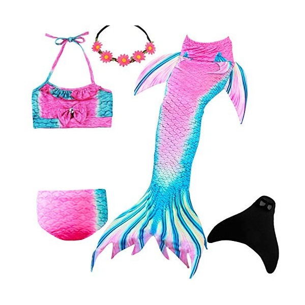 Urbandesign Mermaid Tail Kids Swimmable With Monofin Swimming Costume With Tail For Girls