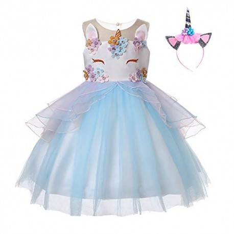 Robe Manches Longues Princesse Licorne