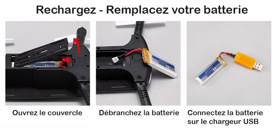 Drone portable changez la batterie