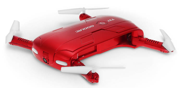red portable drone