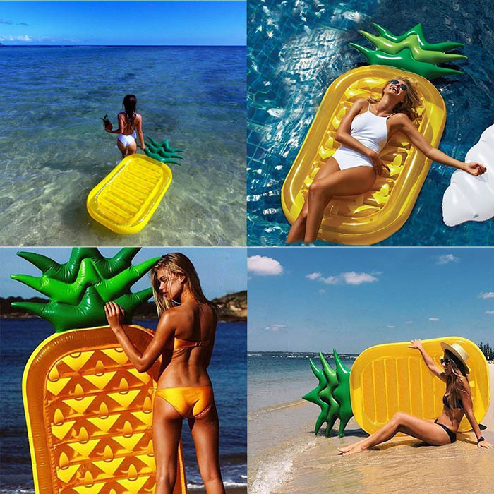 inflatable pineapple air mat