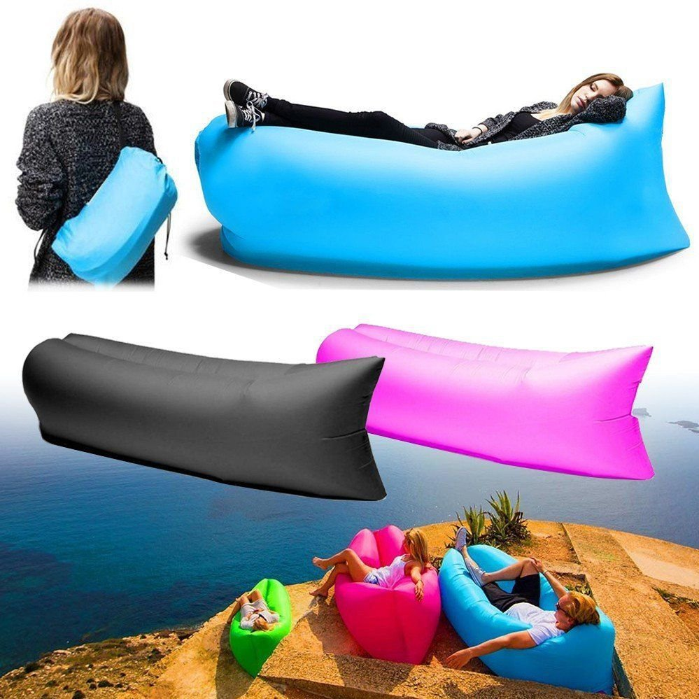 matelas gonflable lit portable pour la plage et le camping 2xdeal. Black Bedroom Furniture Sets. Home Design Ideas
