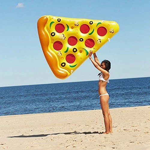 matelas gonflable pizza pour plage piscine 2xdeal. Black Bedroom Furniture Sets. Home Design Ideas